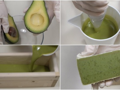 SAPONE NATURALE ALL'AVOCADO - DIY Natural Avocado Soap