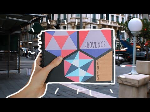 HOW TO DO A TRAVEL JOURNAL (Provence)
