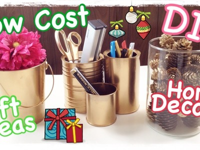 DIY Low Cost Home Decor & Gift Ideas #Xmas4