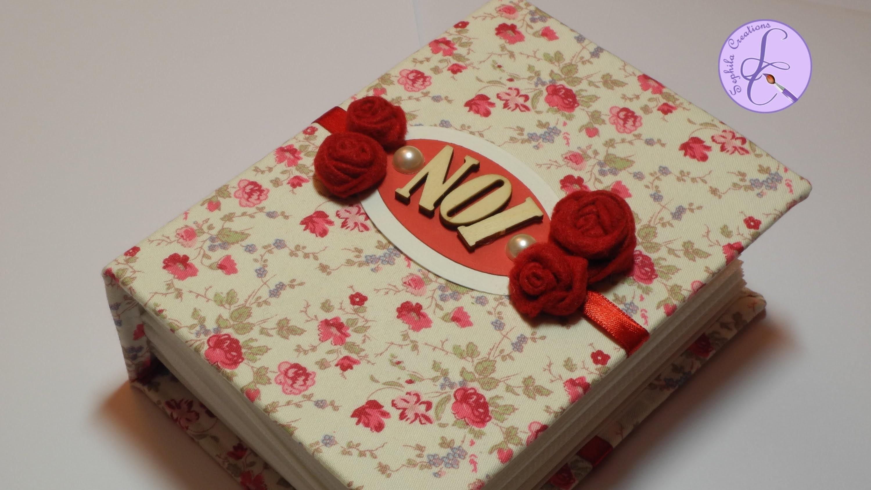 Tutorial: Album in tessuto per San Valentino (fabric photo album for Valentine) [eng-sub]