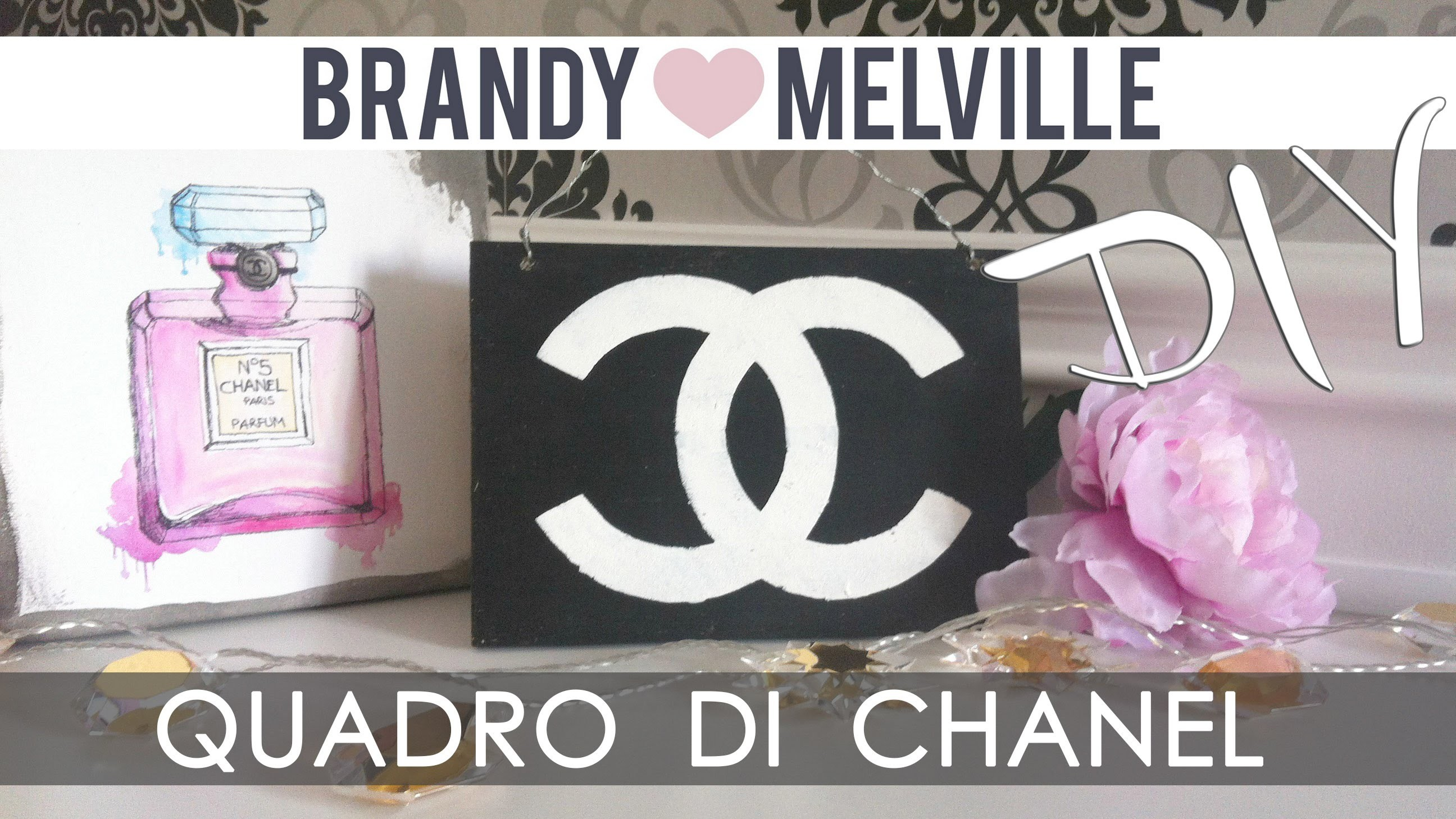 ❤ DIY Room Decor : Quadretto con logo CHANEL ispirato a Brandy Melville