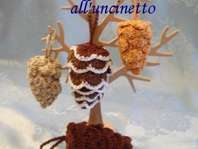 Pigna uncinetto Pinecone crocheted