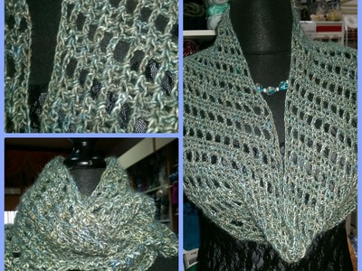 Scaldacollo all'uncinetto molto semplice con punto a sbieco - how to crochet a cowl