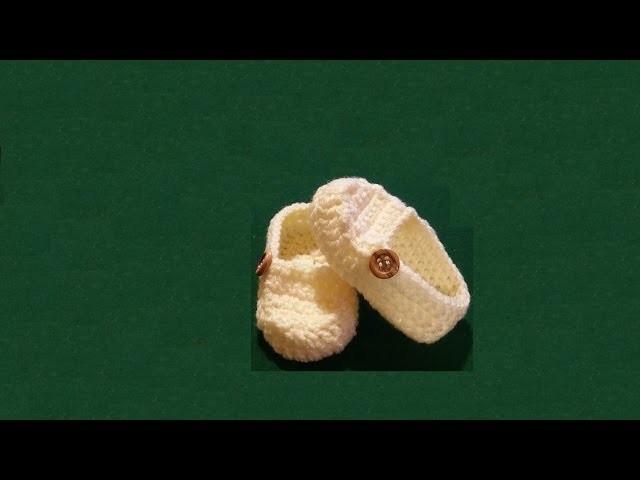 "Scarpine neonato all'uncinetto ""mocassini"" - baby booties crochet - zapatitos crochet"