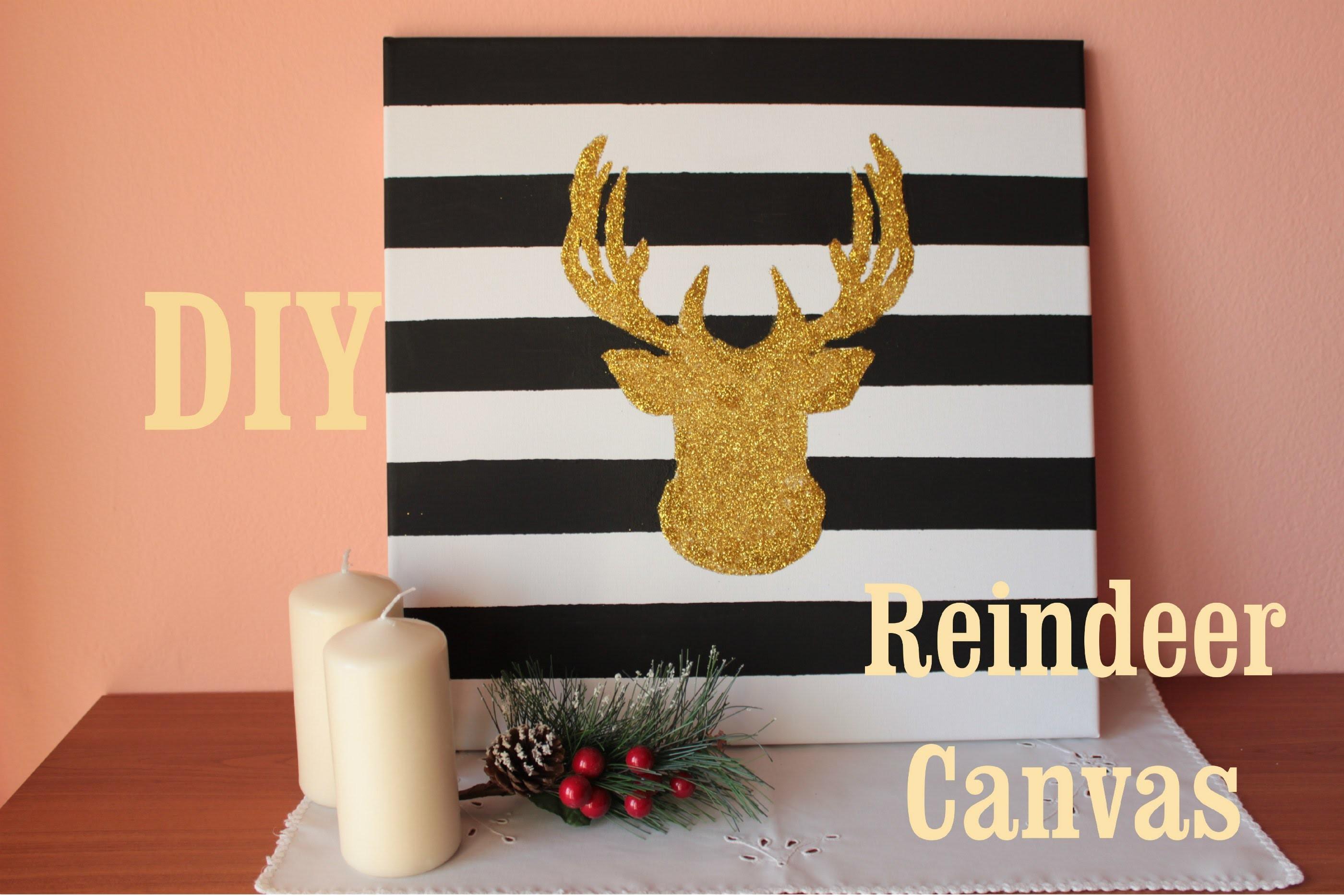 DIY Christmas Decore: Reindeer Canvas