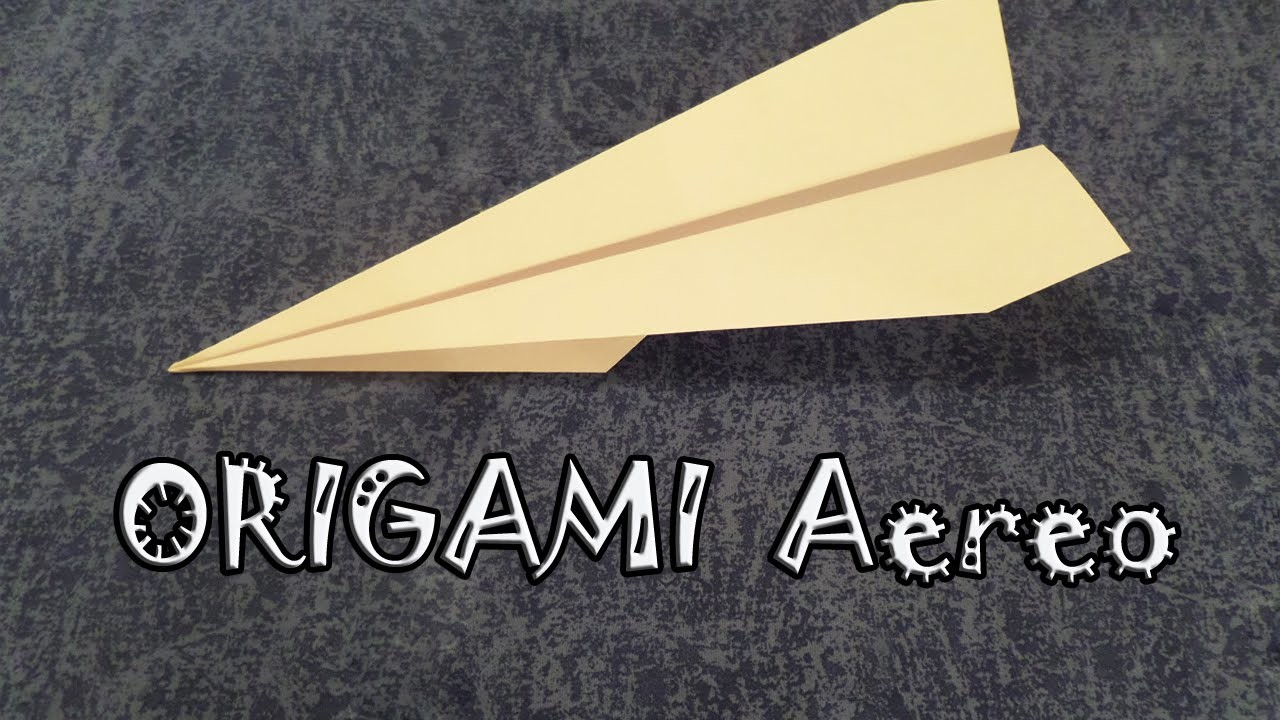 Origami facile, tutorial aereo di carta - how to make an easy paper airplane