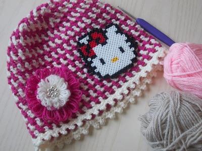 Uncinetto - Cappello - Maglia Alta -  Tutorial | Crochet Hat (dc)