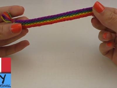 Braccialetto arcobaleno nodi su nodi  Braccialetto dell´amicizia dai da te   DIY