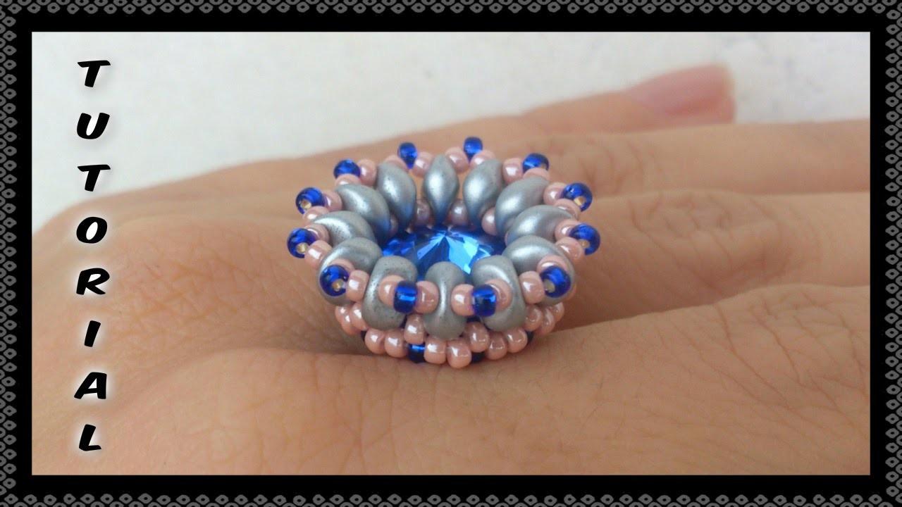 Incastonatura * Coroncina * rivoli da 14mm con ES O e Rocailles - Incastonare perline Crown