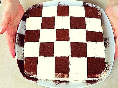 TIRAMISU' A SCACCHI RICETTA FACILE - Easy Tiramisu Chessboard Recipe