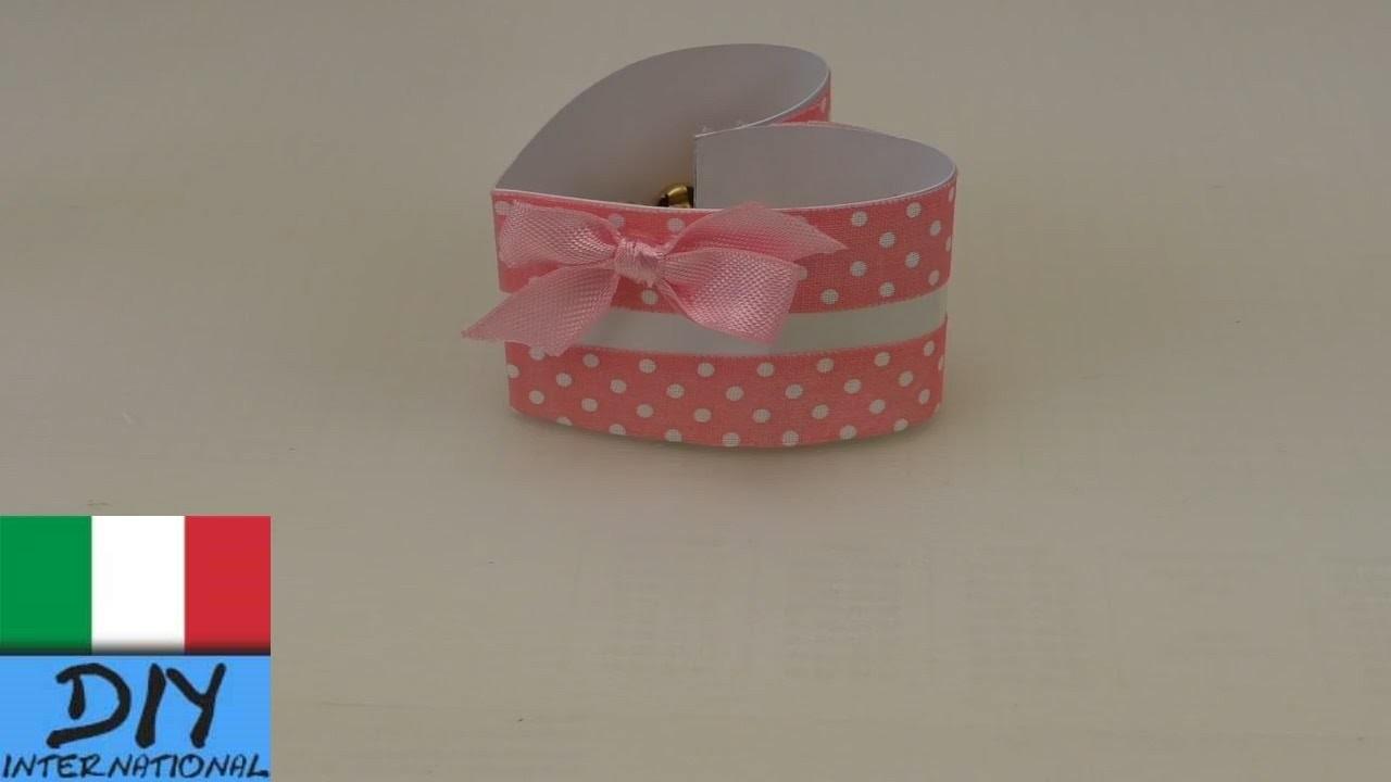 Contenitore a forma di cuore fai da te – molto semplice – Scatola contenitore decorata fai da te