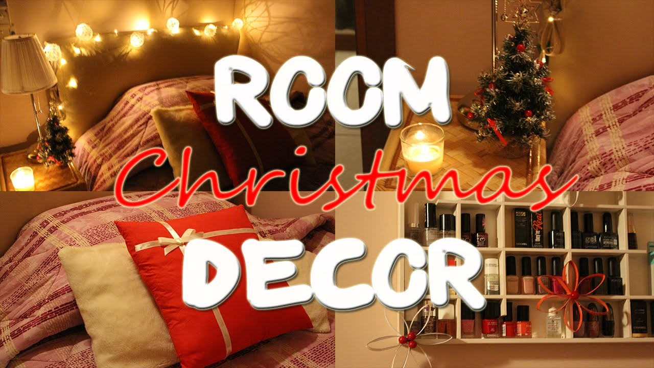 Diy room decor idee natalizie per decorare la stanza for Decorare stanza natale