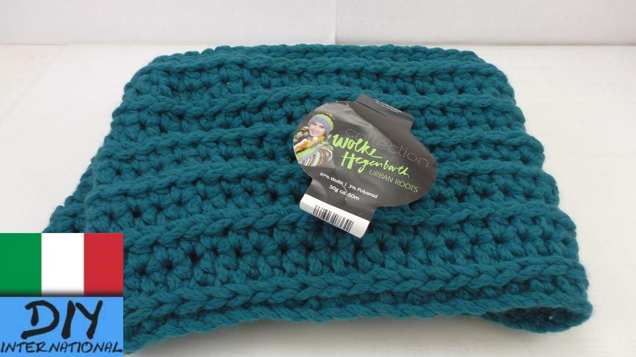 Sciarpa crochet con struttura in rilievo - uncinetto - Crochet Struttura in rilievo Tutorial