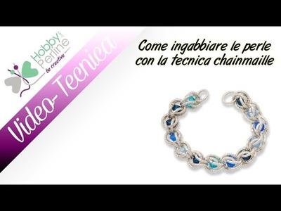 Come ingabbiare le perle con la tecnica chainmaille | TECNICA - HobbyPerline.com