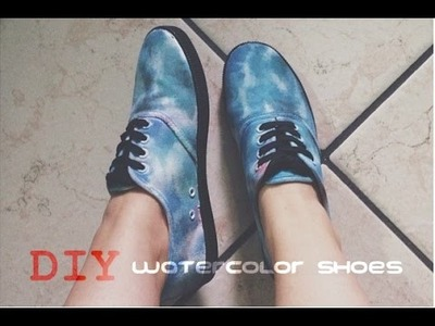 DIY: WATERCOLOR SHOES inspired by VANS ❤