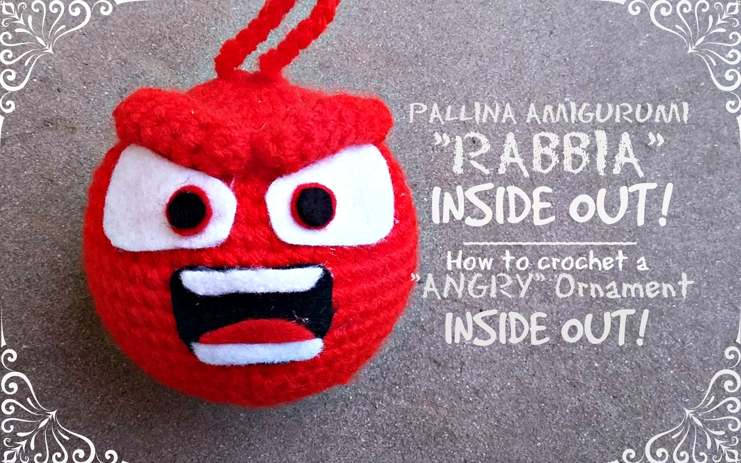 "Pallina Amigurumi ""RABBIA"" - Inside Out 