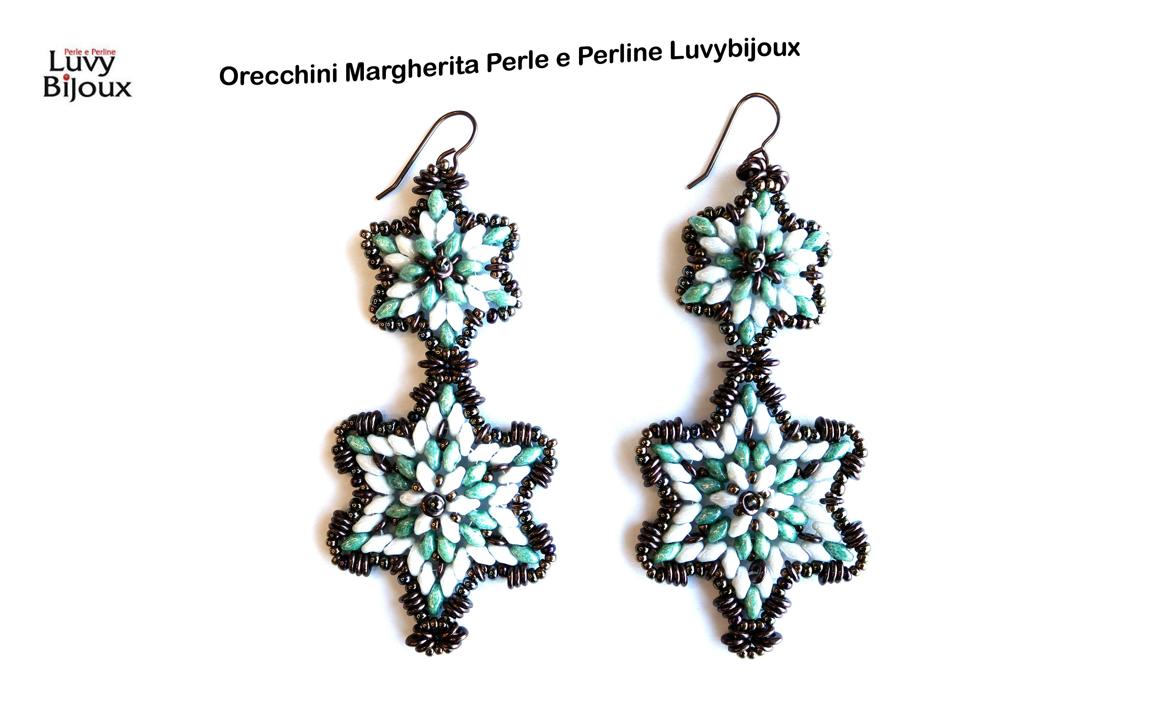 Video Tutorial Orecchini Margherita. Perle e Perline Luvybijoux