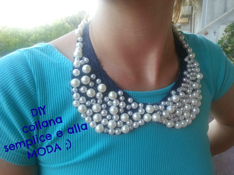DIY necklace collar - collana di perle