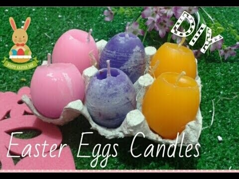 Easter Eggs Candles,Candele a forma di uova, DIY #1