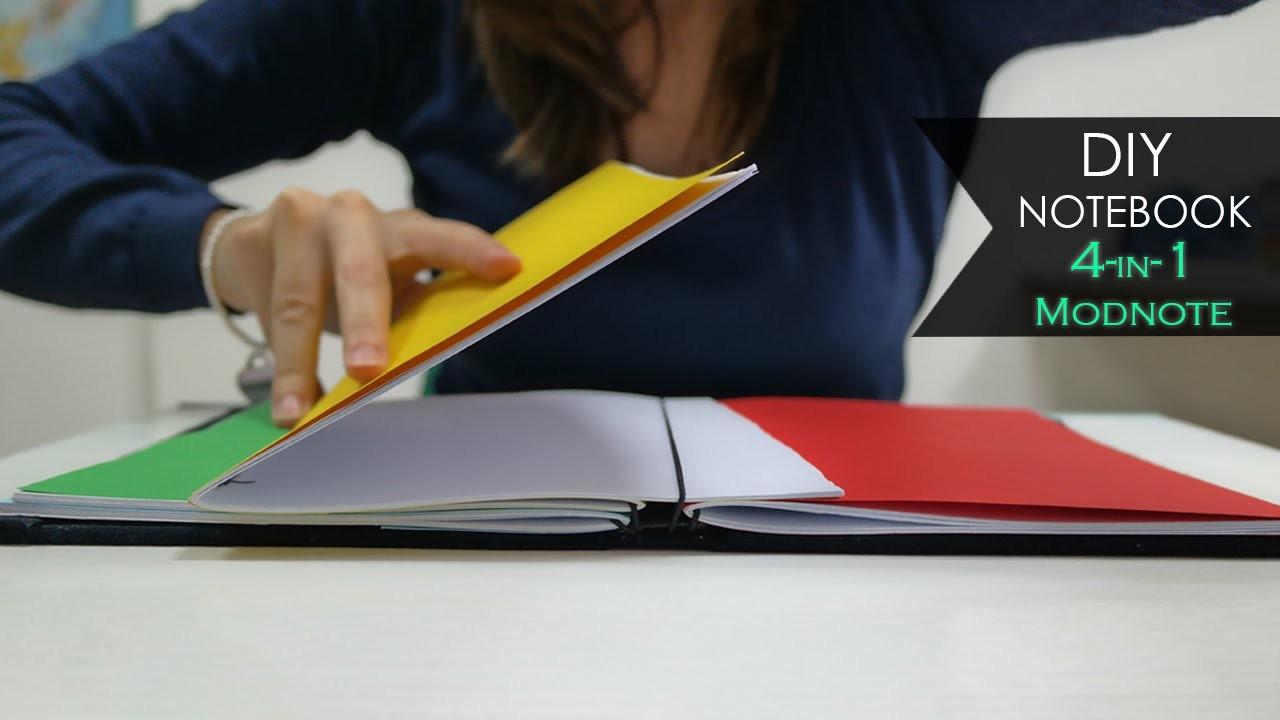 DIY Notebook ♯ 4-IN-1 Modnote