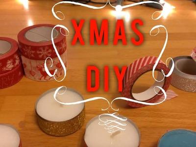 Xmas DIY - Trasformo le candele con decotape e whasitape natalizio