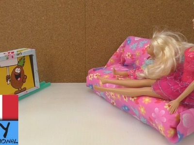 DIY costruire TV parete per Barbie (Tv per barbie fai da te)