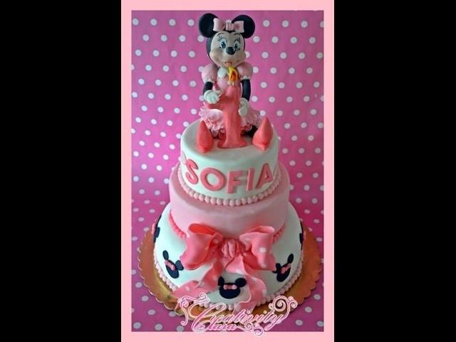 Tutorial Topolina in pasta di zucchero Minnie cake topper sugar paste