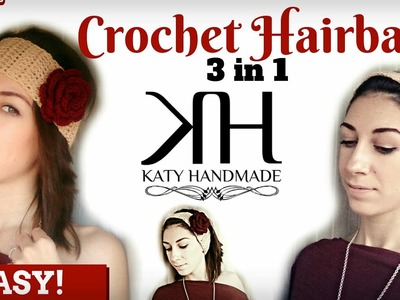 ❁ [Tutorial Uncinetto #16] Fascia per capelli | Hair band | Crochet ❁