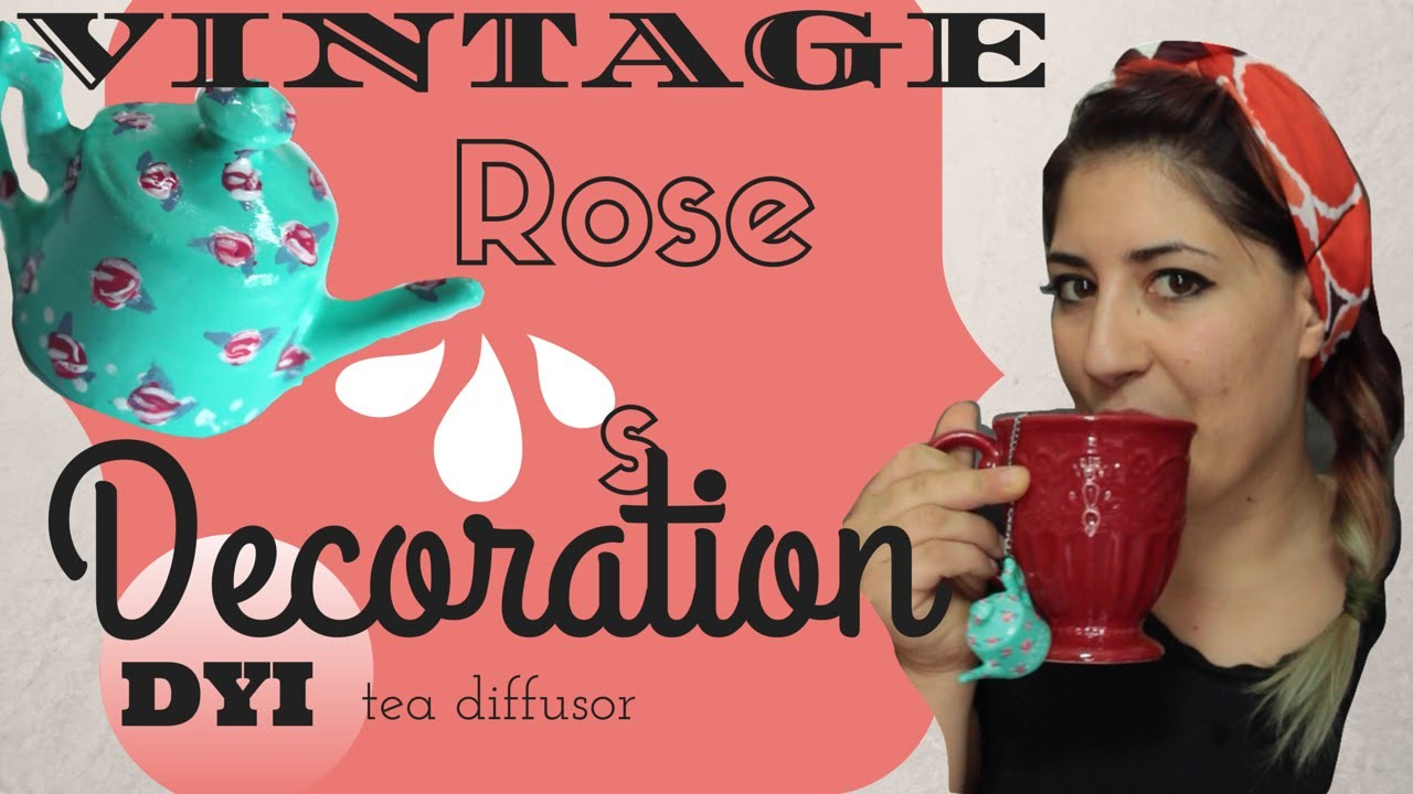 DIY rose vintage | mini teapot