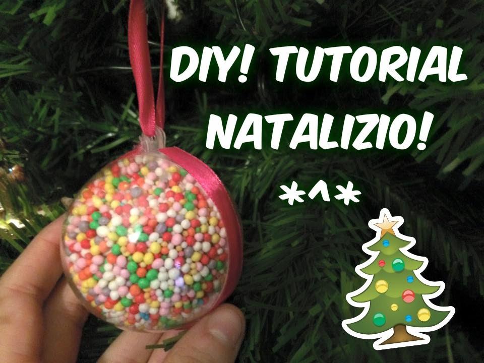 DIY Tutorial di Natale! Creiamo una pallina dolciosa per l'Albero di Natale! Idea regalo!