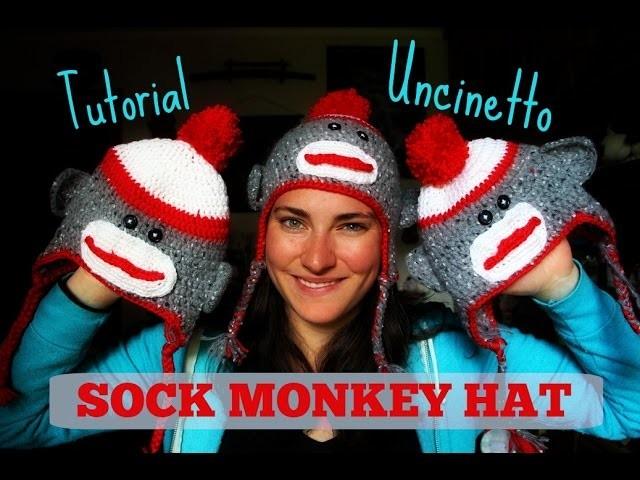 Berretto a (calza) scimmia - Tutorial Uncinetto
