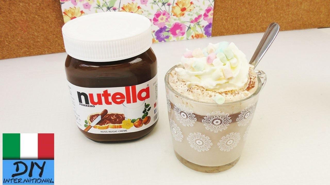 Cioccolata calda con nutella e panna | Incredibilmente delizioso | Bevanda per l´inverno