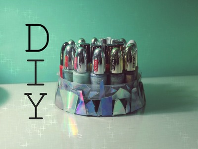 DIY: Holographic Nail Polish Holder ❤