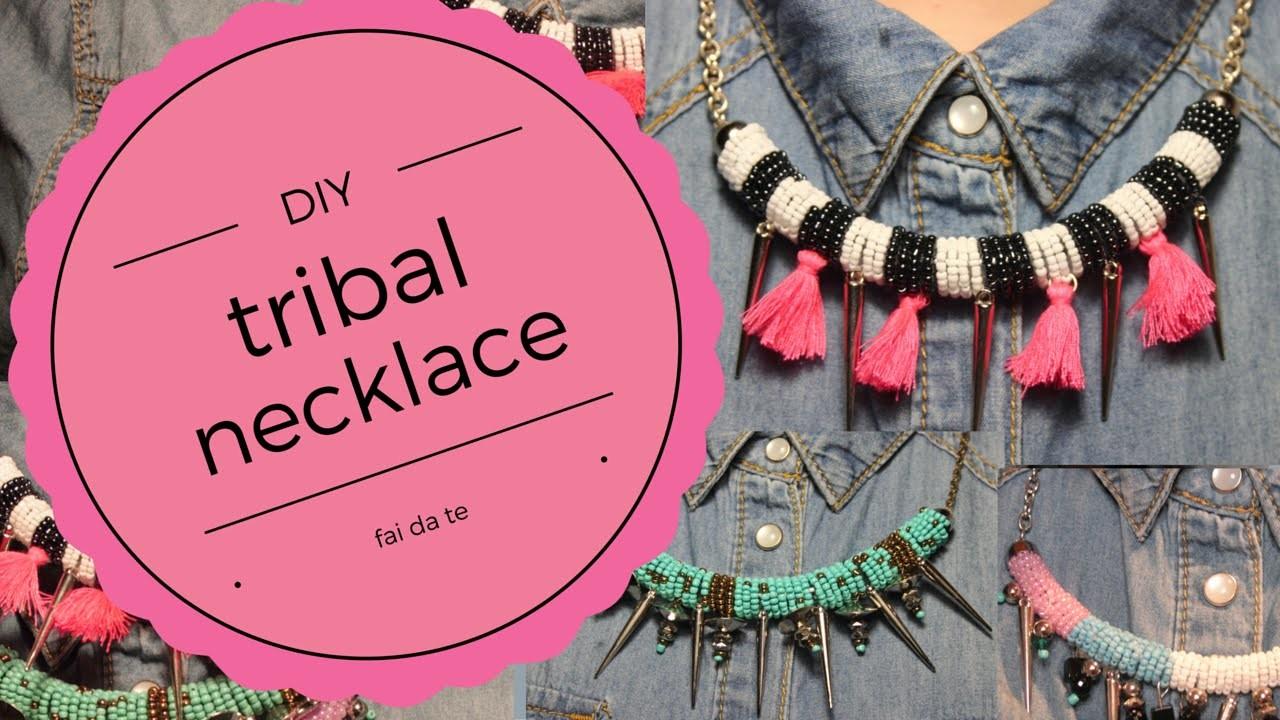 DIY || tribal necklace- tutorial per creare 3 collane etniche