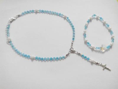 Tutorial rosario swarovsky con bracciale