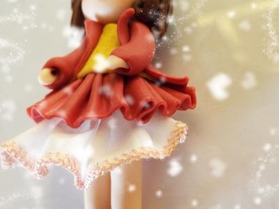 ❤ Vestito in stoffa e Fimo + SORPRESA!! PolymerClay tutorial