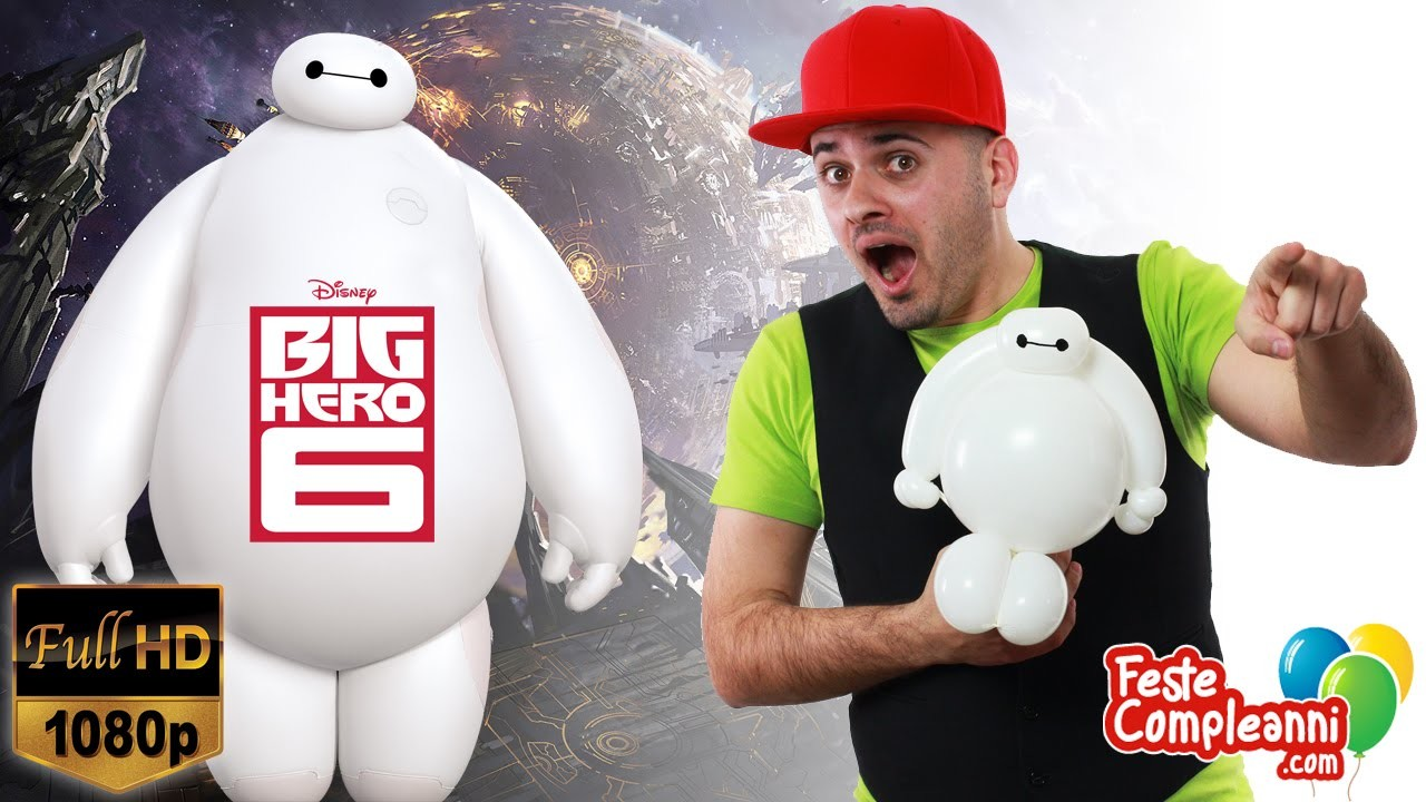 Big Hero 6 Balloon Art - Baymax Palloncino Disney - Tutorial 145 - Feste Compleanni