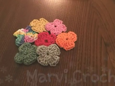 Tutorial fiore semplice uncinetto,Simple crochet flower