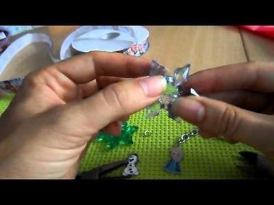 FROZEN tutorial PORTACHIAVI facile con ciondoli Elsa olaf e ghiaccio