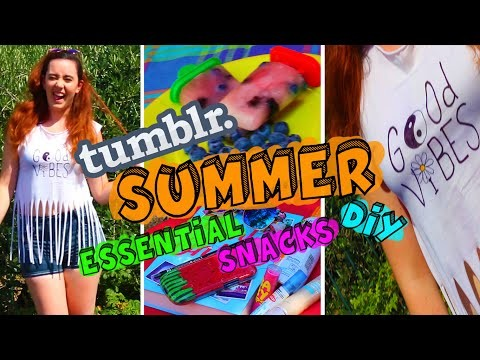 TUMBLR SUMMER (Essential +  Snacks + DIY) ♥ 2015