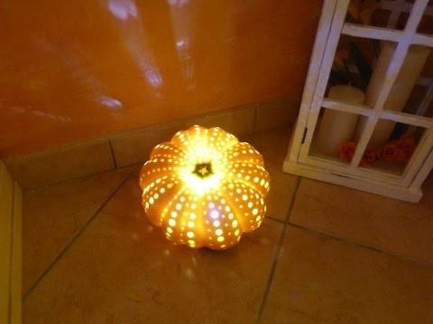 DIY autunnale - #4 Zucca trasformata in lampada