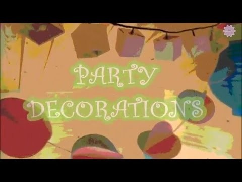 DIY   party decoration ITA