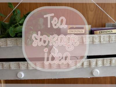DIY Tea storage idea {Home Decor} - Bacidisapori