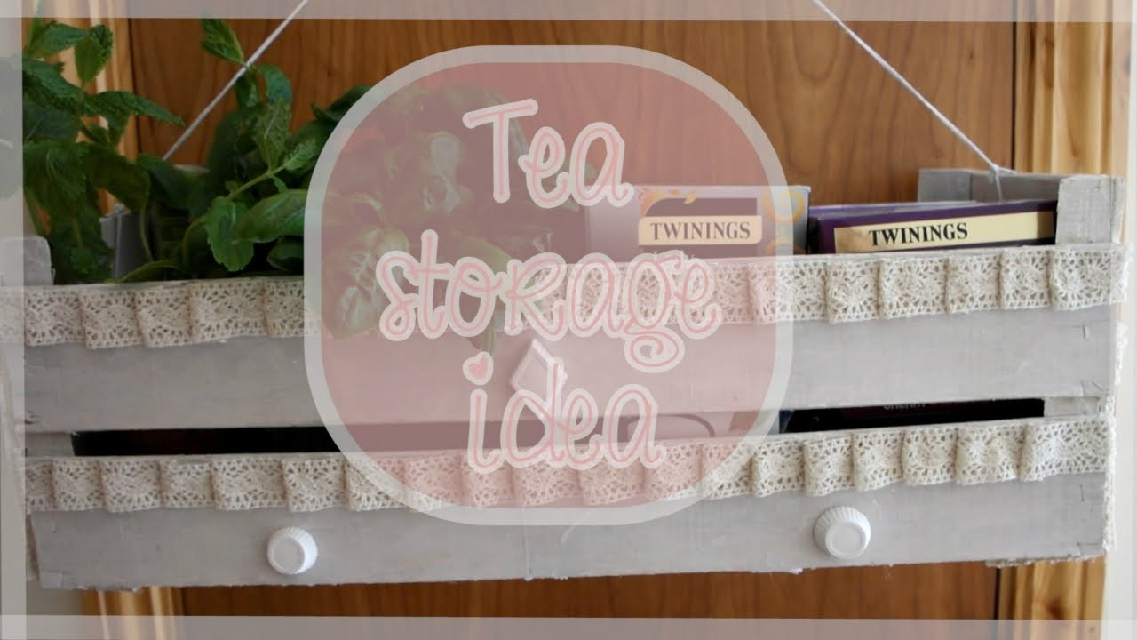 DIY Tea storage idea {Home Decor} - Bacidisapori