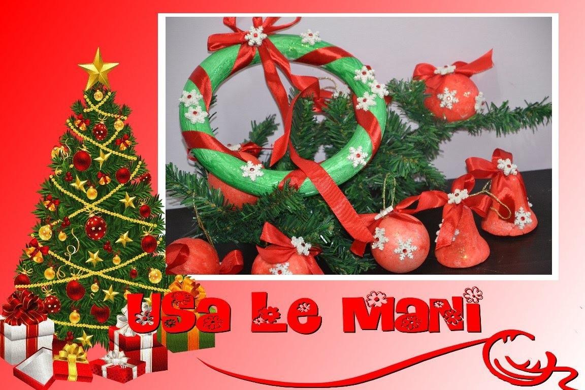 Tutorial decorazioni Natalizie fai da te: polistirolo. Christmas DIY