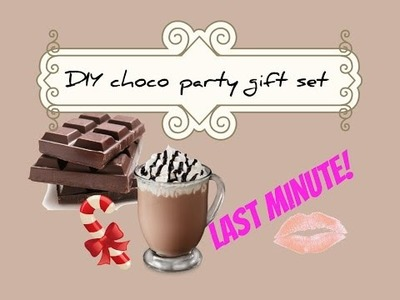 Last minute DIY chocolate party gift!  Choco regalo fai da te