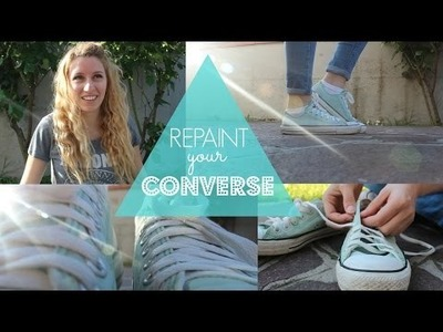 DIY Repaint Your Sneakers.Converse -DIY Cambia colore alle tue scarpe