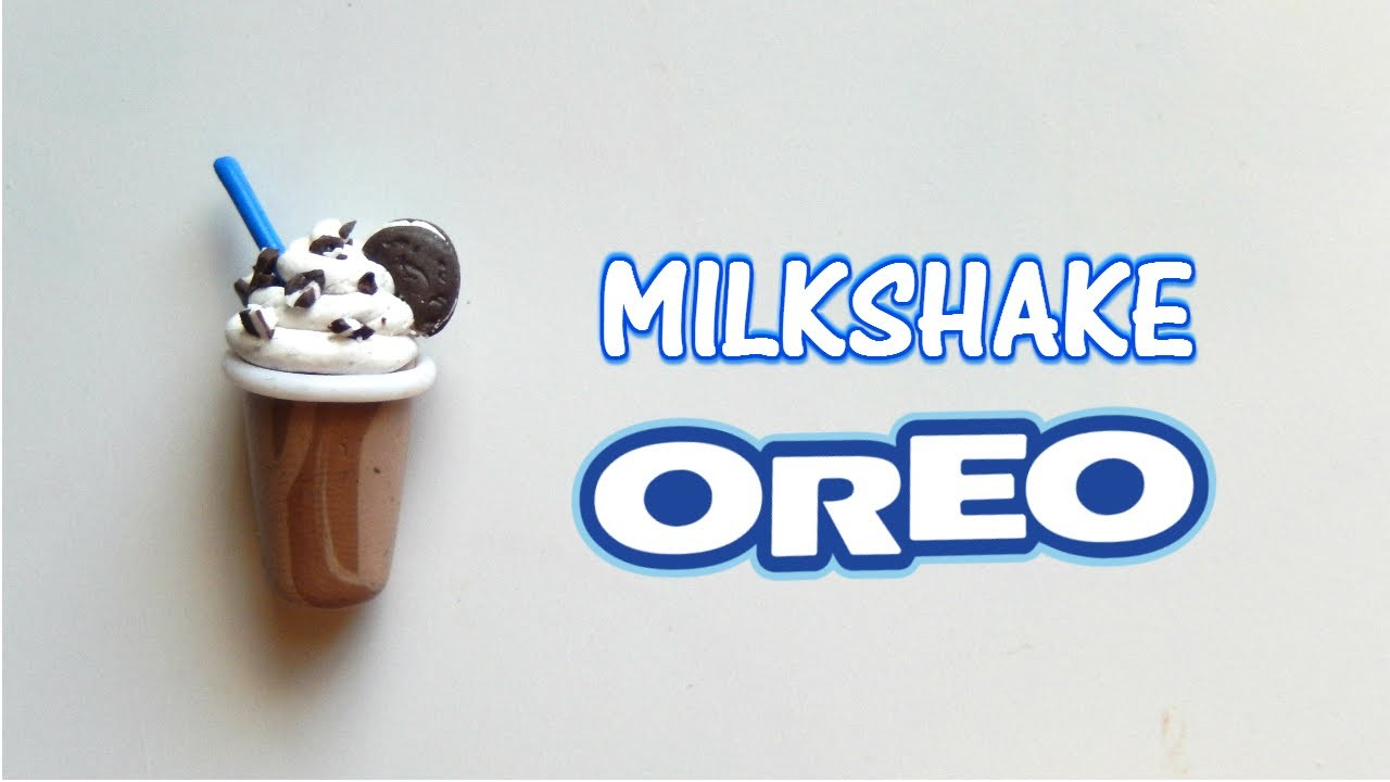 Tutorial fimo- Polymerclay tutorial- Milkshake OREO