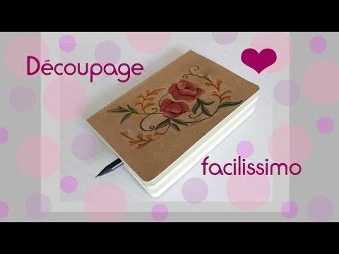 Découpage semplice - Decorazione agenda.quaderno DIY