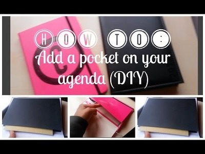 How to: Add a pocket on your agenda (DIY) | Cherol Smile